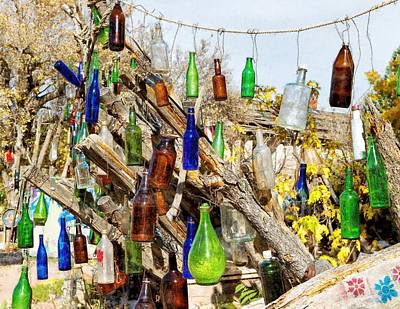 Digital Art - Painterly Bottles In The Sunshine by Kathleen Bishop