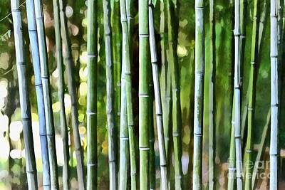 Painting - Painting Of A Bamboo Grove by George Atsametakis