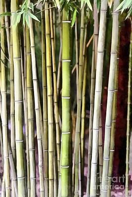 Painting - Painting Of A Bamboo Grove Iv by George Atsametakis