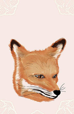 Photograph - Painting Of Fox by Heather Landis