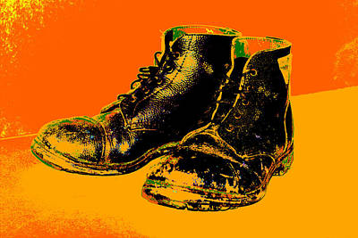 Digital Art - Pair Of Old Boots by Artist Dot
