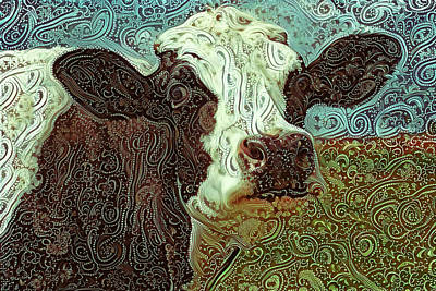 Photograph - Paisley Cow At Pasture by Peggy Collins