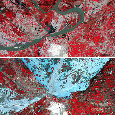 Photograph - Flooding In Pakistan by NASA Earth Observatory