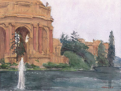 Painting - Palace of Fine Arts, 2018 by Walter Lynn Mosley