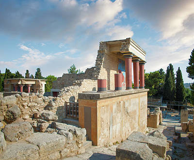 Photograph - Palace Of Knossos, Crete, Greece by Ed Freeman