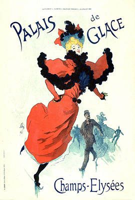 Painting -  Palais De Glais 1895 Vintage French Advertising by Vintage French Advertising