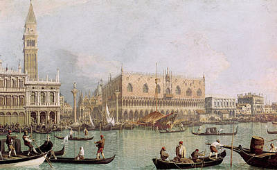 Painting - Palazzo Ducale By Canaletto by Superstock
