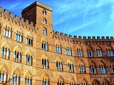 Photograph - Palazzo Sansedoni Facade In Siena by John Rizzuto