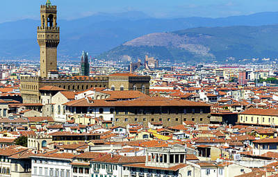 Photograph - Palazzo Vecchio In The Distance Florence by John Rizzuto