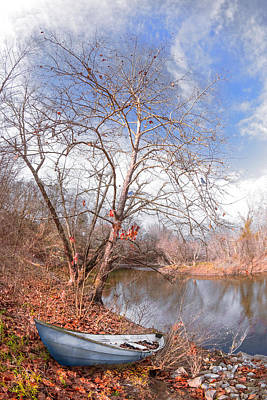 Photograph - Pale Blues At The End Of Autumn by Debra and Dave Vanderlaan