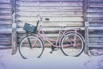 Photograph - Pale Pink Bike At The Beach by Debra and Dave Vanderlaan