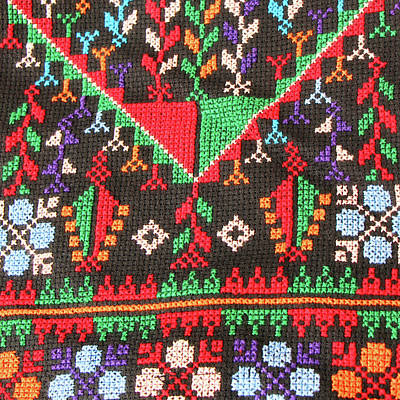 Photograph - Palestinian Embroidery Colors by Munir Alawi