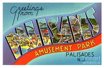 Photograph - Palisades Amusement Park Greetings by Mark Miller