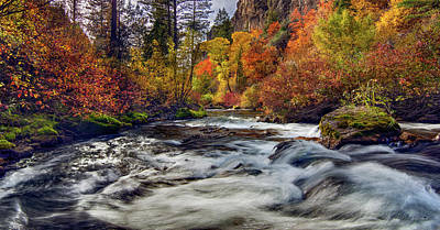 Palisades Creek Autumn Light Art Print by Leland D Howard
