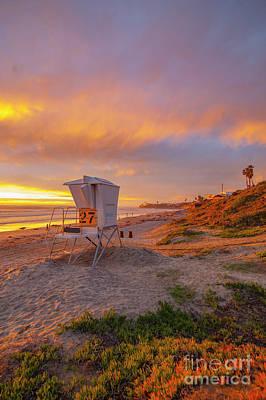 Photograph - Palisades Park Sunset  by Roman Gomez
