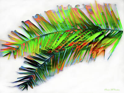 Digital Art - Palm Leaf by Pennie McCracken