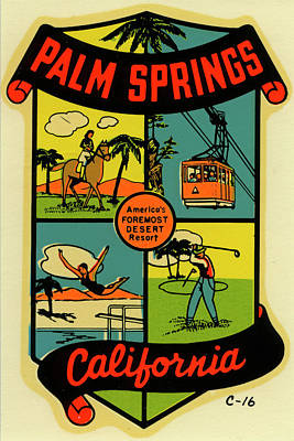 Travel Destinations Photograph - Palm Springs by Jim Heimann Collection