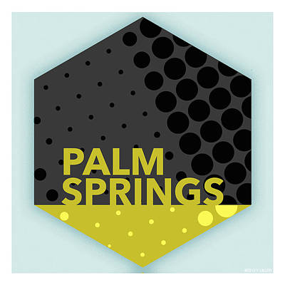 Digital Art - Palm Springs California Poster 1 by Mod City Gallery