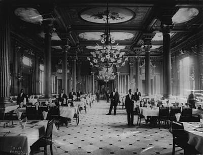 Photograph - Palmer House Grand Dining Room by Chicago History Museum