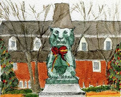 Painting - Palmer Square Christmas by Andrea Rubinstein