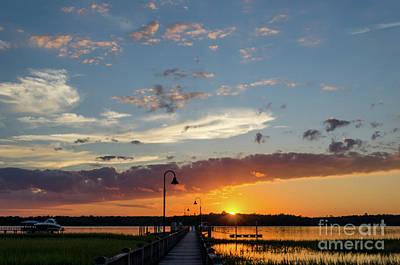 Photograph - Palmetto Sunrise - Wando River by Dale Powell