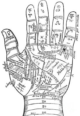 Drawing - Palmistry by English School