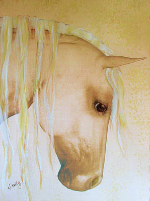Painting - Palomino Head Study by Valerie Anne Kelly