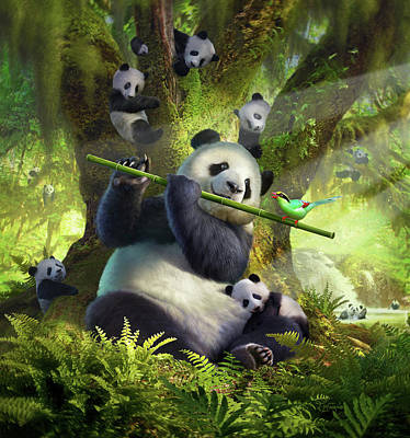 Panda Cub Wall Art - Digital Art - Pan Da Bear by Jerry LoFaro
