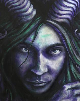 Half God Painting - Pan Of Night by Zoe Oakley