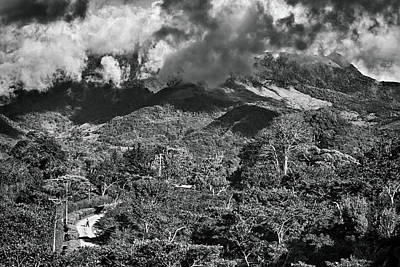 Photograph - Panama Mountains Bw by Tatiana Travelways