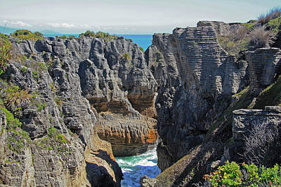 Photograph - Pancake Rocks At Punakaiki by Nareeta Martin