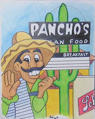 Drawing - Pancho's by Loretta Nash