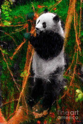 Photograph - Panda Bear Lunch by Blake Richards