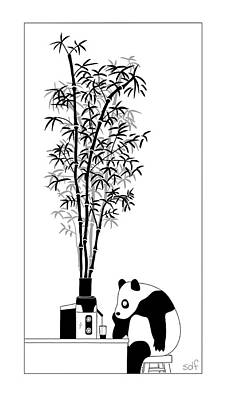 Drawing - Panda Juice by Seth Fleishman