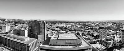Photograph - Panorama Los Angeles Black White  by Chuck Kuhn