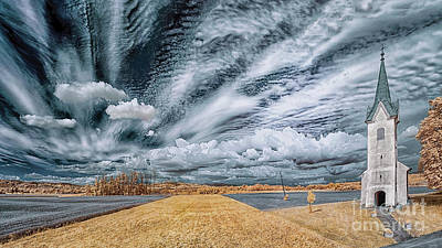 Surrealism Royalty Free Images - Panorama Near Vihre Royalty-Free Image by Norman Gabitzsch