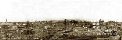 Photograph - Panorama Of Earthquake Ruins At Santa Rosa, Sonoma County, 1906 by California Views Archives Mr Pat Hathaway Archives