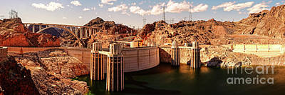 Photograph - Panorama Of Hoover Dam Black Canyon And Colorado River - Nevada Arizona Mojave Desert by Silvio Ligutti