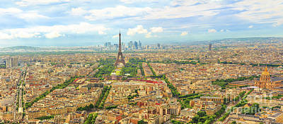 Photograph - Panorama Of Paris by Benny Marty