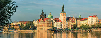 Lovely Lavender - Panorama of Prague Old Town from the river by Jan Fidler