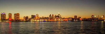 Photograph - Panorama - Philadelphia Cityscape On The Delaware River by Bill Cannon