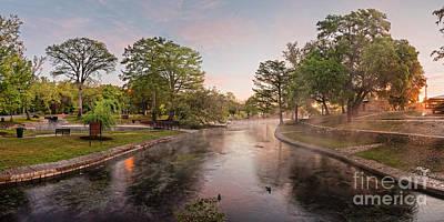 Photograph - Panorama - Sunrise Impending - Landa Park Comal Springs New Braunfels - Texas Hill Country by Silvio Ligutti