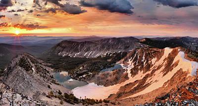 Photograph - Panoramic Cdt Sunrise by Leland D Howard