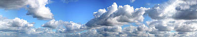 Photograph - Panoramic Clouds by Belterz