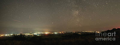 Photograph - Panoramic Milky Way Over Sandown Bay by Clayton Bastiani