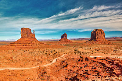 Photograph - Panoramic Monument Valley by Andy Crawford