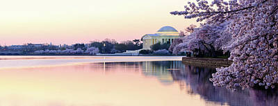 Photograph - Panoramic Of Thomas Jefferson Memorial by Ogphoto
