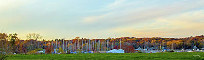 Photograph - Panoramic Saugatuck Michigan During Autumn by Ken Figurski