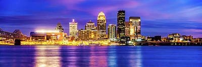 Photograph - Panoramic Skyline Of Louisville Kentucky At Dusk by Gregory Ballos