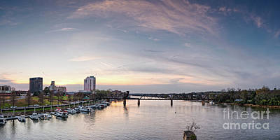 Photograph - Panoramic Sunset View Of Savannah River At Augusta - Georgia by Silvio Ligutti